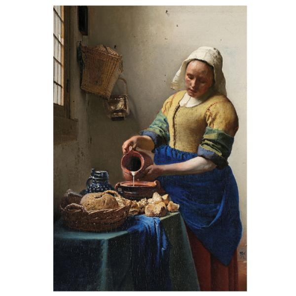【牛乳を注ぐ女】フェルメール作 ポストカード 絵画 世界の名画|tanukinomori
