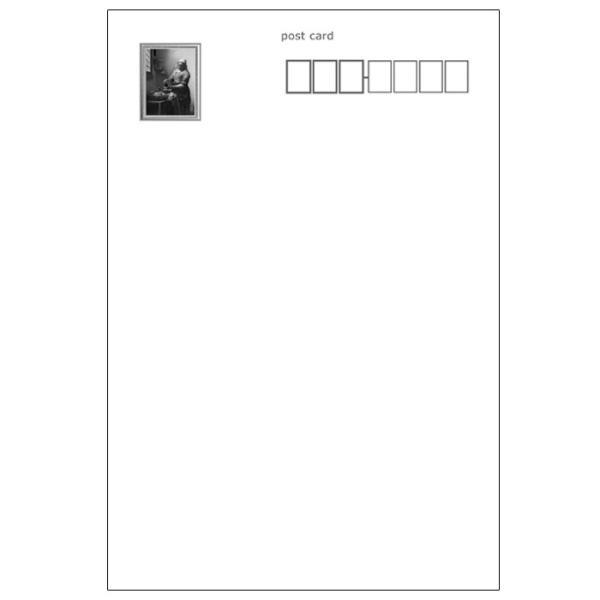 【牛乳を注ぐ女】フェルメール作 ポストカード 絵画 世界の名画|tanukinomori|03