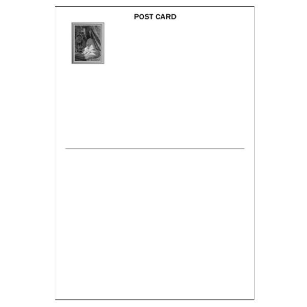 ポストカード【置き時計と母猫と子猫】アンリエット・ロナーニップ 世界の名画 絵画 おしゃれ 絵はがき メッセージカード インテリア 贈り物 プレゼント|tanukinomori|02