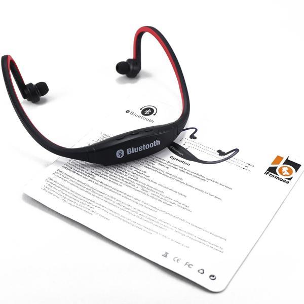 IFS9 スポーツ ステレオ ワイヤレス ブルートゥース Bluetooth ヘッドホン イヤホン for iPhone スマートフォン パソコン タブレット レッド 赤|taobaonotatsujinpro