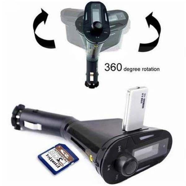 IF618 シガーソケット マルチメディア自動車キット MP3プレーヤー FMトランスミッター USB SDカード対応 MMC リモコン付き  ブルーLED|taobaonotatsujinpro|05
