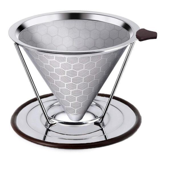 iFormosa コーヒー ドリッパー ステンレス フィルター メッシュ ペーパーフィルター不要 1?4杯用 ハニカム構造 IF-CF-DRH|taobaonotatsujinpro