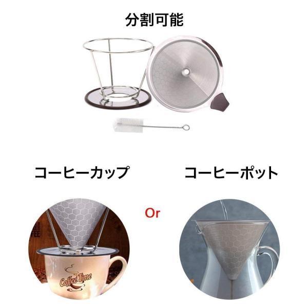 iFormosa コーヒー ドリッパー ステンレス フィルター メッシュ ペーパーフィルター不要 1?4杯用 ハニカム構造 IF-CF-DRH|taobaonotatsujinpro|02