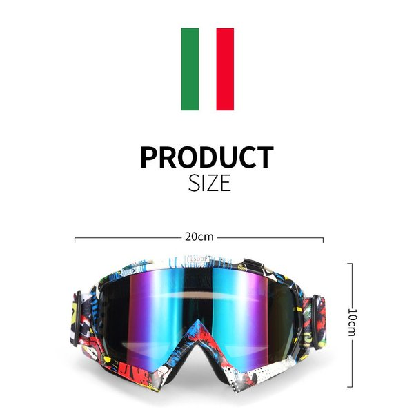 iFormosa バイク 防風メガネ スノボー スキー ソフト ゴーグルメガネ 透明レンズ グレー枠 IF-GG-A016W|taobaonotatsujinpro|02