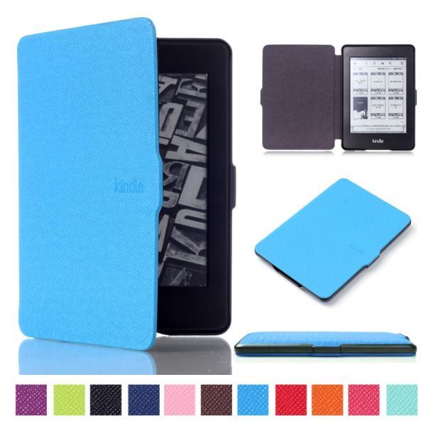 iFormosa Amazon Kindle Paperwhite用レザーカバー (Kindle Paperwhite専用)  ライトブルー クラシック(2017年以前対応 2018非対応) taobaonotatsujinpro 02