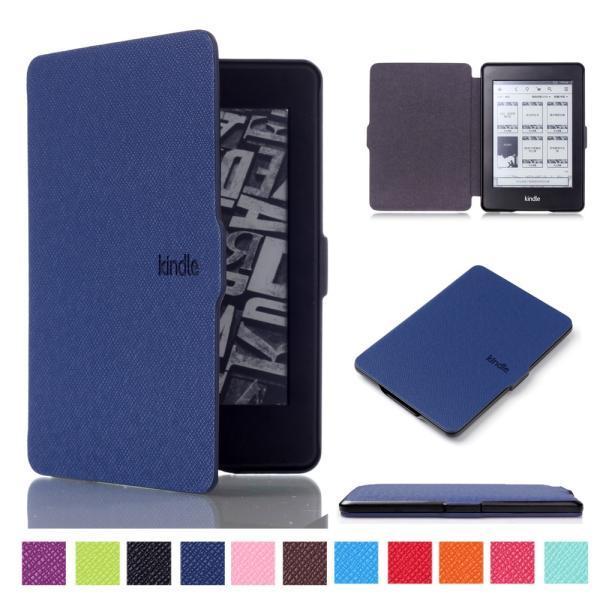 iFormosa Amazon Kindle Paperwhite用レザーカバー (Kindle Paperwhite専用)  ネイビー クラシック(2017年以前対応 2018非対応) taobaonotatsujinpro 02