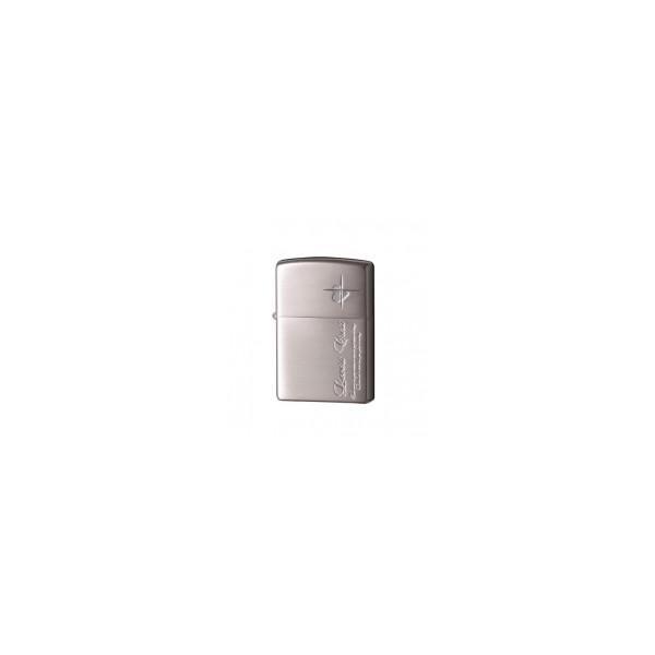 喫煙 かわいい おしゃれZIPPO(ジッポー) ライター ラバーズ・クロス メッセージSIDE 銀サテーナ 63050198