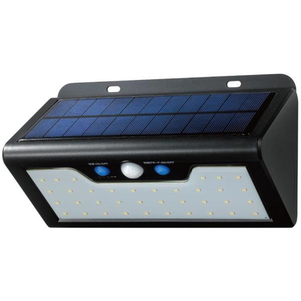 防雨 照明 太陽光ELPA(エルパ) 屋外用 LEDセンサーウォールライト ソーラー発電式 白色 ESL-K411SL(W)