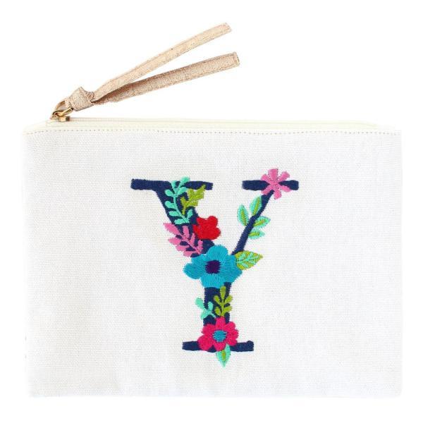 刺繍ポーチ アルファベット Y 16819000168