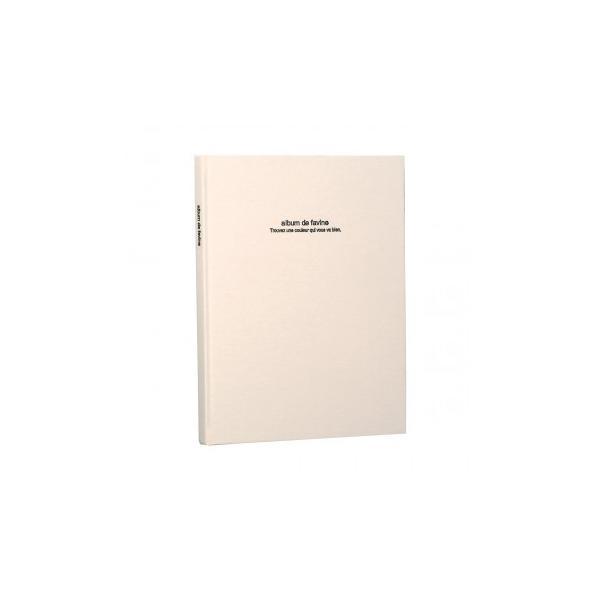 ナカバヤシ ドゥファビネ100年アルバムブック式 A4ノビ ホワイト アH-A4PB-181-W
