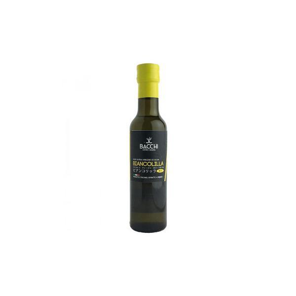 バッキ エクストラヴァージン オリーブオイル ビアンコリッラ ガラス瓶 250ml 12本セット 605-303