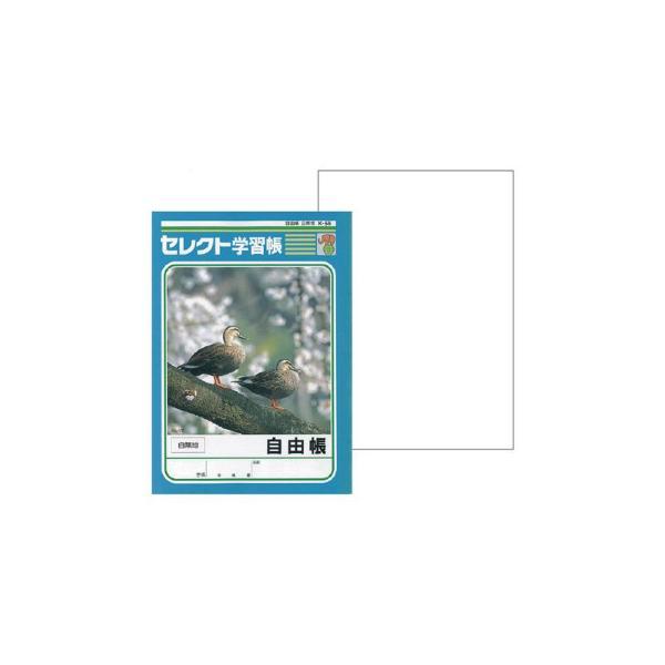 文運堂 セレクト学習帳 教科ノート B5 自由帳 白無地 10冊セット K-56(110560)