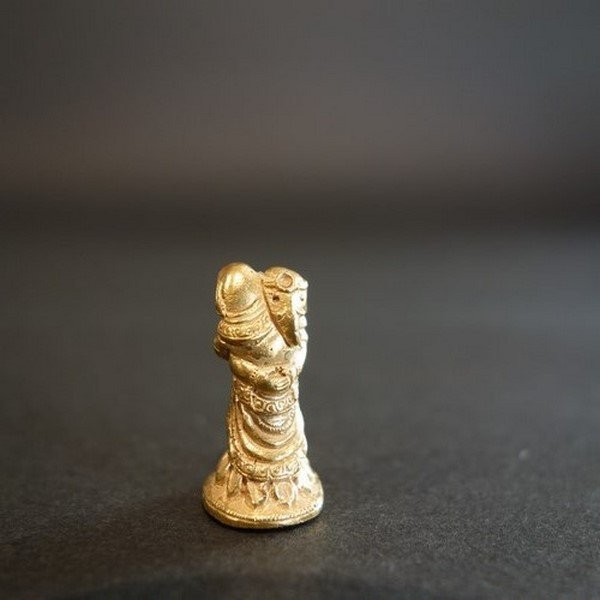 【極小仏像】聖天(歓喜天) 金メッキ仕上げ 2.5cm【送料無料】|taradou|04