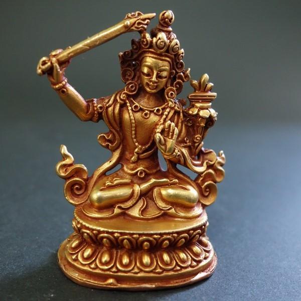 【仏像】文殊菩薩(妙吉祥菩薩) 小さな仏像 6cm|taradou