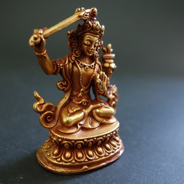 【仏像】文殊菩薩(妙吉祥菩薩) 小さな仏像 6cm|taradou|02