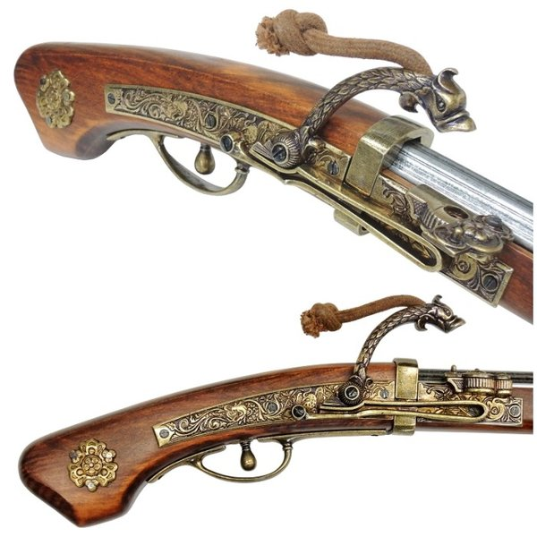 DENIX 火縄銃 種子島 ポルトガル伝来モデル 日本 1274 (デニックス マッチロック式 レプリカ)|targetmilitary|04