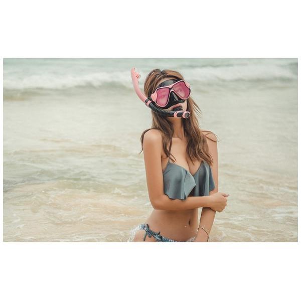 シュノーケルマスク シュノーケリング 2点セット 180°視界 防曇設計 マスク 成人用 スノーケル ダイビング 夏 海 海水浴 tarouya 14