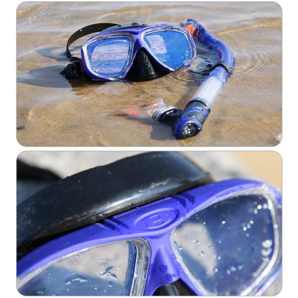 シュノーケルマスク シュノーケリング 2点セット 180°視界 防曇設計 マスク 成人用 スノーケル ダイビング 夏 海 海水浴 tarouya 10