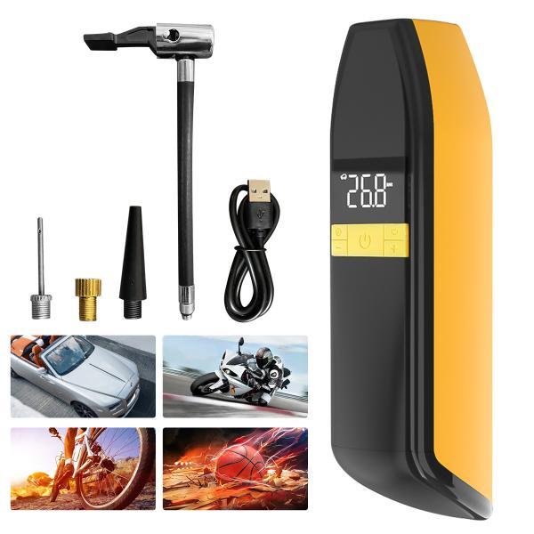 電動エアーポンプ 電動空気入れ 電動エアコンプレッサー 自動車タイヤエアーポンプ 自転車空気入れ 電動モバイルポンプ タイヤ空気入れ USB充電式