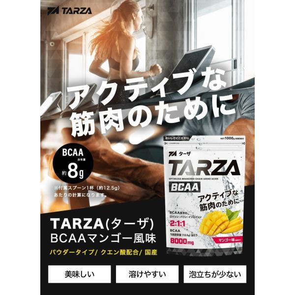 BCAA アミノ酸 クエン酸 パウダー TARZA(ターザ) マンゴー風味 40杯分 国産 500g tarza 02