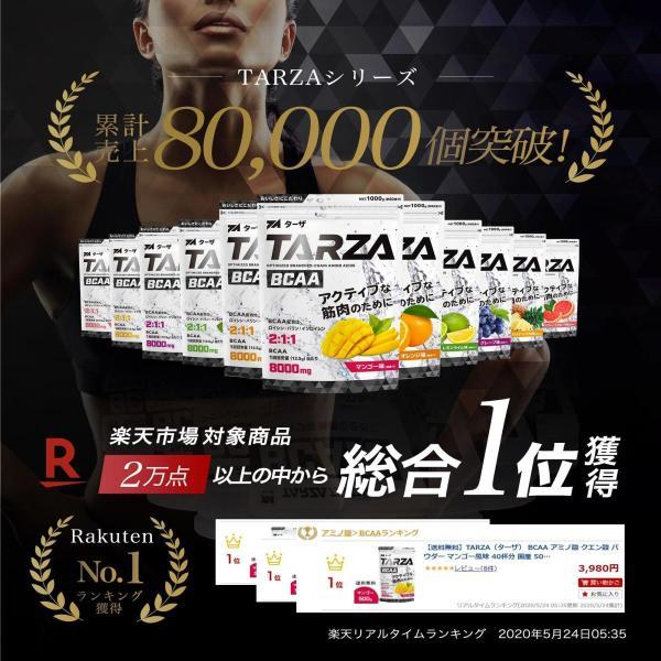 BCAA アミノ酸 クエン酸 パウダー TARZA(ターザ) マンゴー風味 40杯分 国産 500g tarza 04