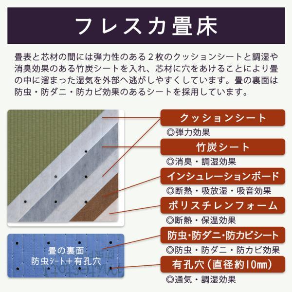 畳ベッド ダブル 日本製 収納付きベッド 棚付き 木製ベッド コンビニエント 選べる畳 エアーラッソ畳床 tatamikouhinn 17