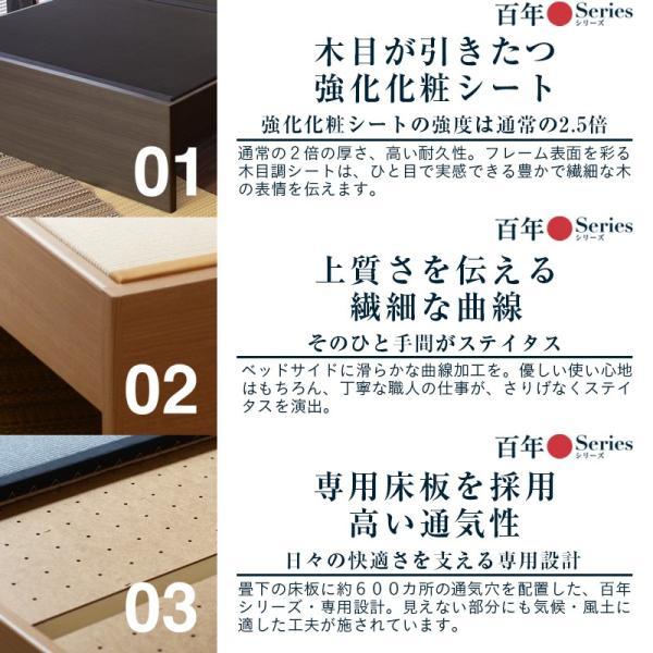 畳ベッド セミシングル 日本製 ヘッドレスベッド 木製ベッド ゼン・テスタ 選べる畳 スタンダード畳床|tatamikouhinn|16