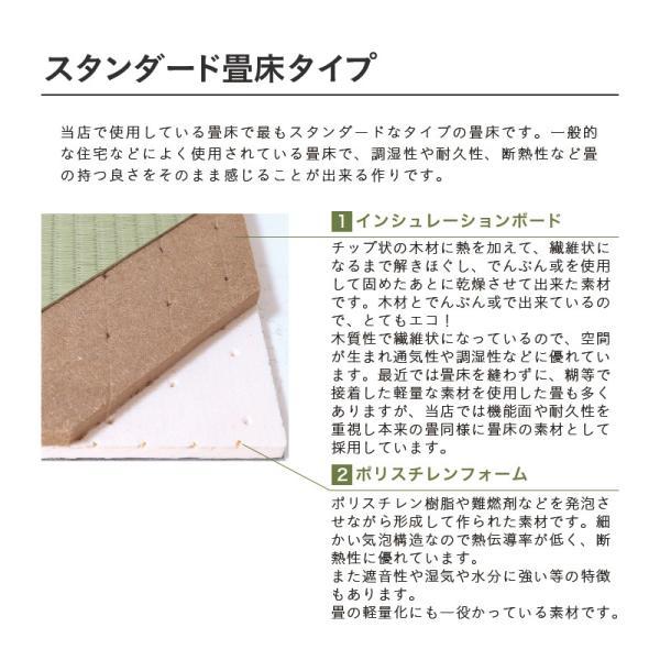 畳ベッド ダブル 日本製 木製ベッド ヘッドレス ローベッド フロールクロス 選べる畳 スタンダード畳床|tatamikouhinn|09