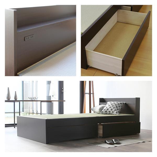 畳ベッド ダブル 日本製 収納付きベッド 棚付きベッド 木製ベッド ドルミー 選べる畳 スタンダード畳床|tatamikouhinn|20