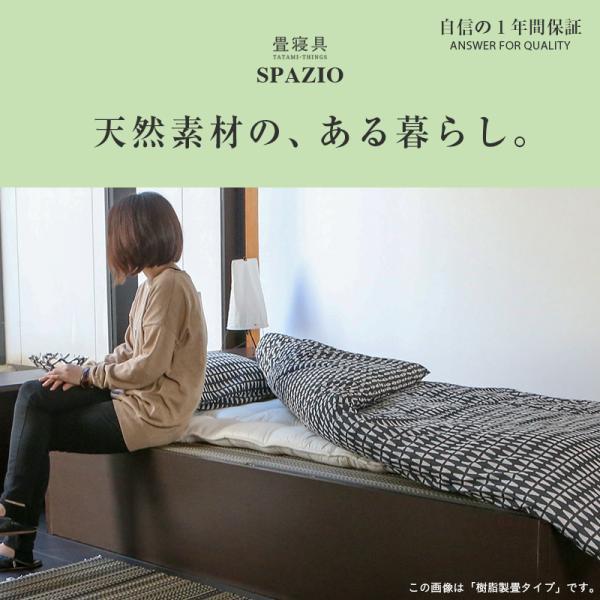 畳ベッド セミダブル 日本製 収納付きベッド ヘッドレスベッド スパシオ 選べる畳 スタンダード畳床 tatamikouhinn 02