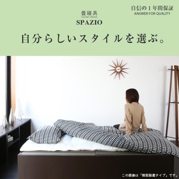 畳ベッド セミダブル 日本製 収納付きベッド ヘッドレスベッド スパシオ 選べる畳 スタンダード畳床 tatamikouhinn 09