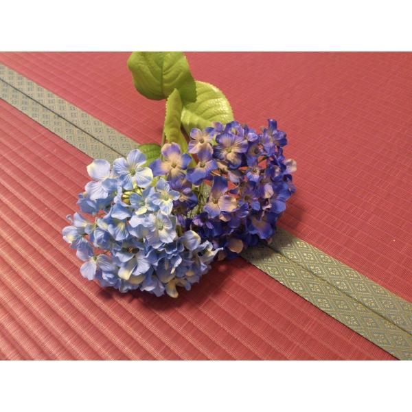 梅雨を楽しむ「紫陽花色」 半畳もの表替え(縁付き) tatamiya3