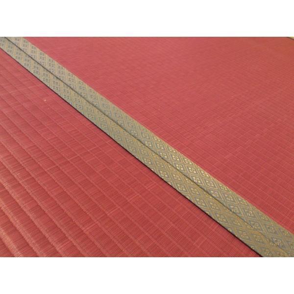 梅雨を楽しむ「紫陽花色」 半畳もの表替え(縁付き) tatamiya3 02