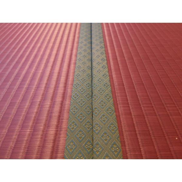 梅雨を楽しむ「紫陽花色」 半畳もの表替え(縁付き) tatamiya3 03