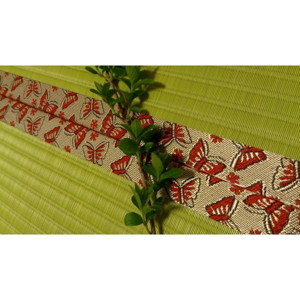 若葉の香り・・・「新緑色」 半畳もの表替え(縁付き)|tatamiya3