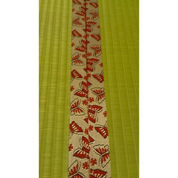 若葉の香り・・・「新緑色」 半畳もの表替え(縁付き)|tatamiya3|03