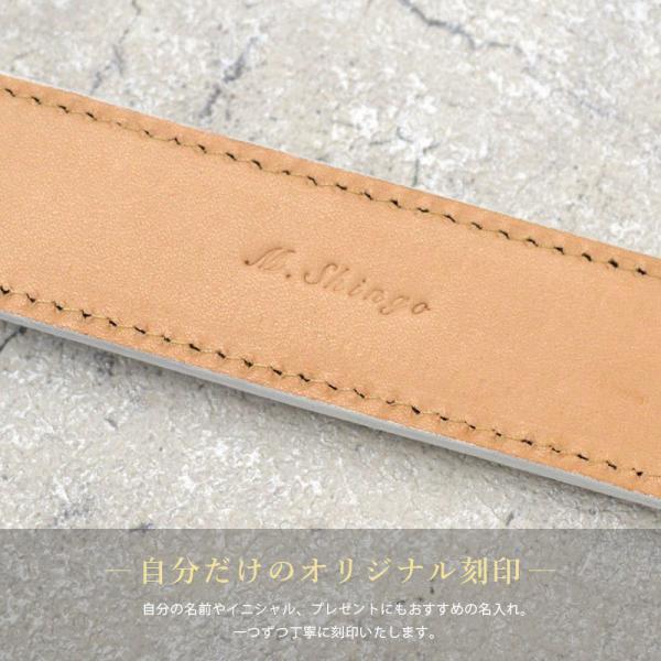ベルト メンズ 本革 日本製 ビジネス 紳士ベルト フォーマル 姫路レザー サドルレザー サイズ調節可 名入れ 刻印 TAVARAT Tps-001 ラッピング無料 父の日|tavarat|15