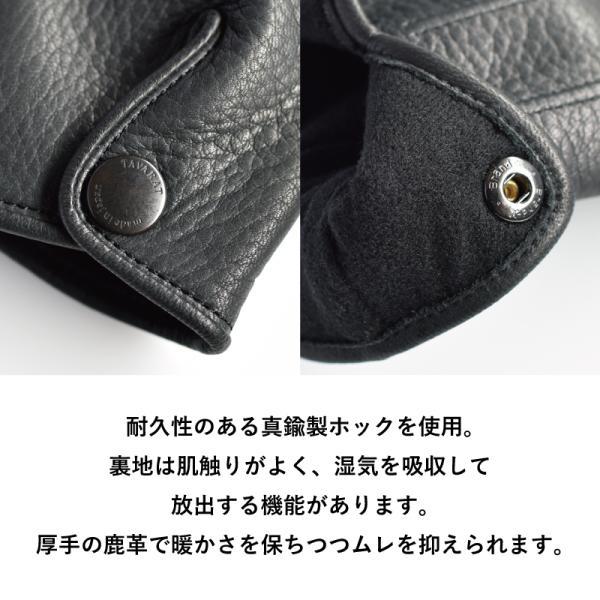 手袋 メンズ 日本製 鹿革 ディアスキン 防水 撥水 透湿 TAVARAT Tps-027  ラッピング無料|tavarat|11