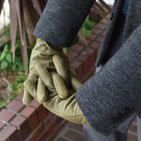 手袋 メンズ 日本製 鹿革 ディアスキン 防水 撥水 透湿 TAVARAT Tps-027  ラッピング無料|tavarat|04