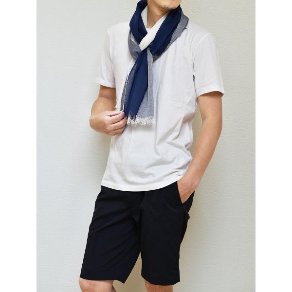 ストール メンズ 日本製 抗菌防臭 綿100% 丹後織物 全2色 TAVARAT Tps-044|tavarat|03