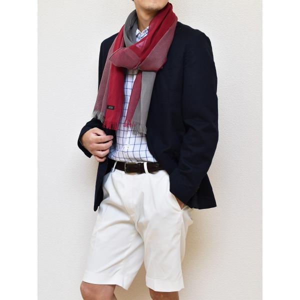 ストール メンズ 日本製 抗菌防臭 綿100% 丹後織物 全2色 TAVARAT Tps-044|tavarat|05