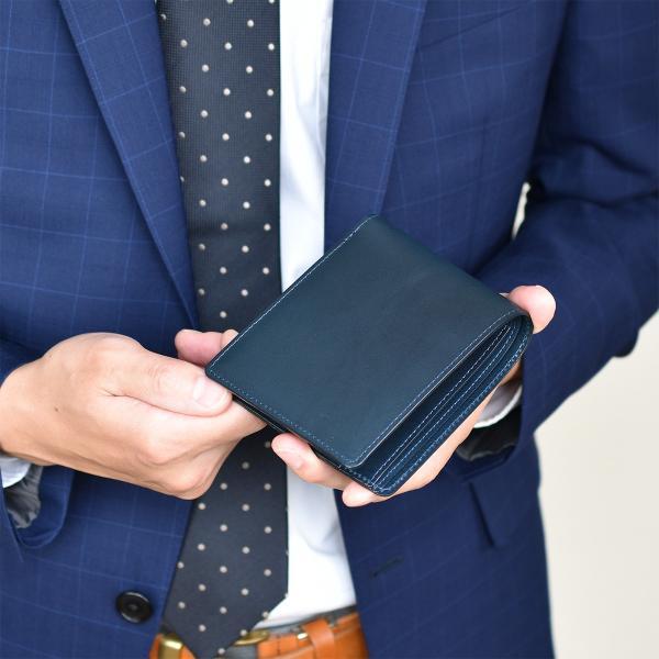 財布 二つ折り財布 日本製 本革 ボックスカーフ 小銭入れ付き (全3色) TAVARAT Tps-072  ラッピング無料|tavarat|02