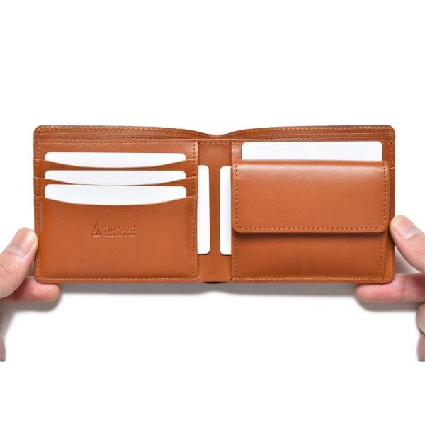 財布 二つ折り財布 日本製 本革 ボックスカーフ 小銭入れ付き (全3色) TAVARAT Tps-072  ラッピング無料|tavarat|13