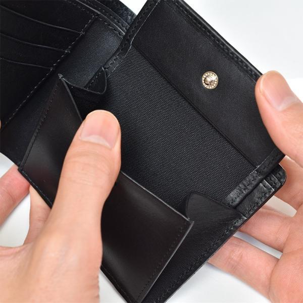 財布 二つ折り財布 日本製 本革 ボックスカーフ 小銭入れ付き (全3色) TAVARAT Tps-072  ラッピング無料|tavarat|16