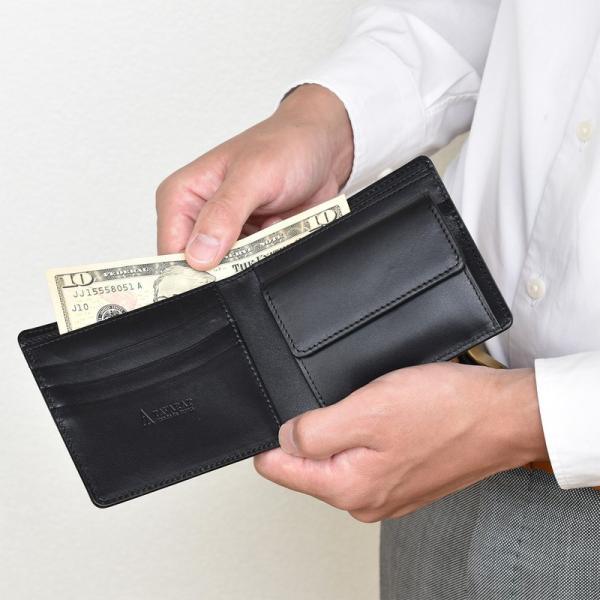 財布 二つ折り財布 日本製 本革 ボックスカーフ 小銭入れ付き (全3色) TAVARAT Tps-072  ラッピング無料|tavarat|17