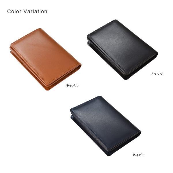 名刺入れ メンズ レザー カードケース 日本製 ボックスカーフ TAVARAT Tps-073  ラッピング無料 父の日 tavarat 02