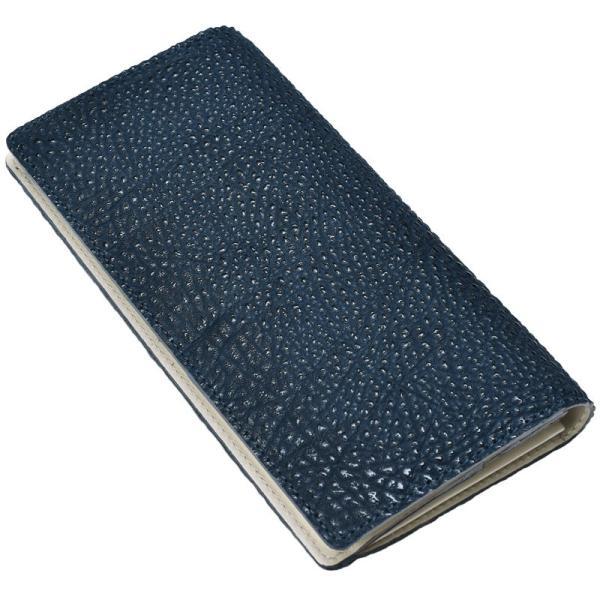 長財布 メンズ 日本製 藍染 黒桟革 極  ネイビー TAVARAT Tps-082 ラッピング無料 父の日|tavarat