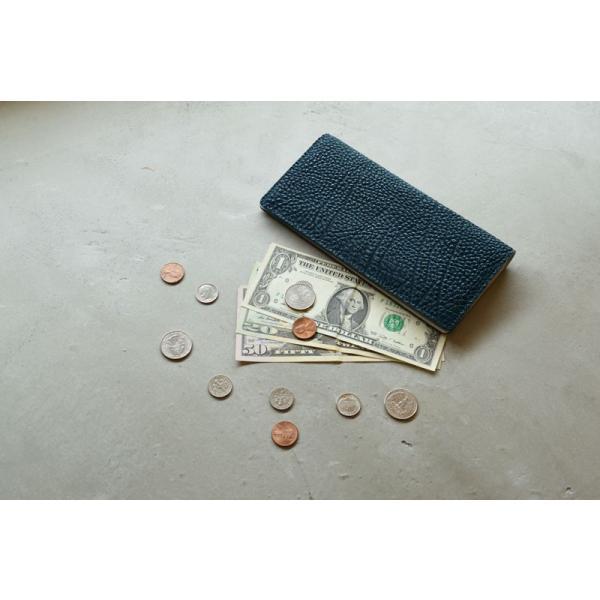長財布 メンズ 日本製 藍染 黒桟革 極  ネイビー TAVARAT Tps-082 ラッピング無料 父の日|tavarat|15
