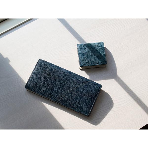 長財布 メンズ 日本製 藍染 黒桟革 極  ネイビー TAVARAT Tps-082 ラッピング無料 父の日|tavarat|03
