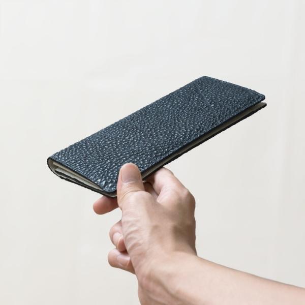 長財布 メンズ 日本製 藍染 黒桟革 極  ネイビー TAVARAT Tps-082 ラッピング無料 父の日|tavarat|09